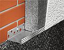 Цокольний профіль для утеплювача 2,5м алюмінієва цокольна планка для мінвати та пінопласту 103 мм, фото 4