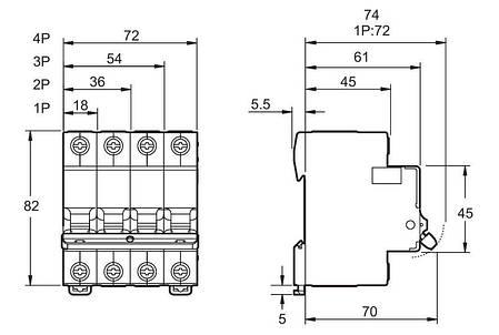 Автоматичний вимикач EZ9 3Р, 6А Schneider Electric, фото 2