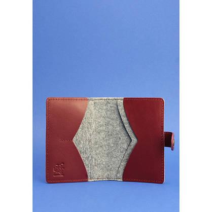 Обложка для паспорта 3.0 кожа + эко-фетр виноград, фото 2