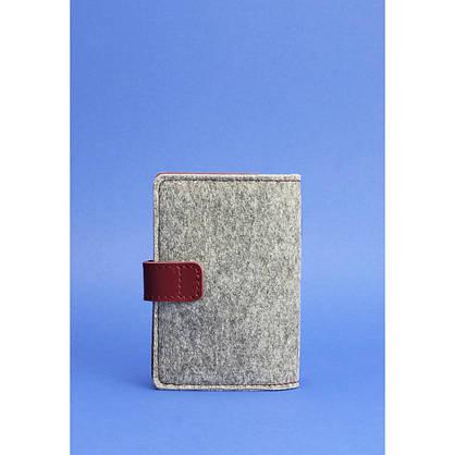 Обложка для паспорта 3.0 кожа + эко-фетр виноград, фото 3