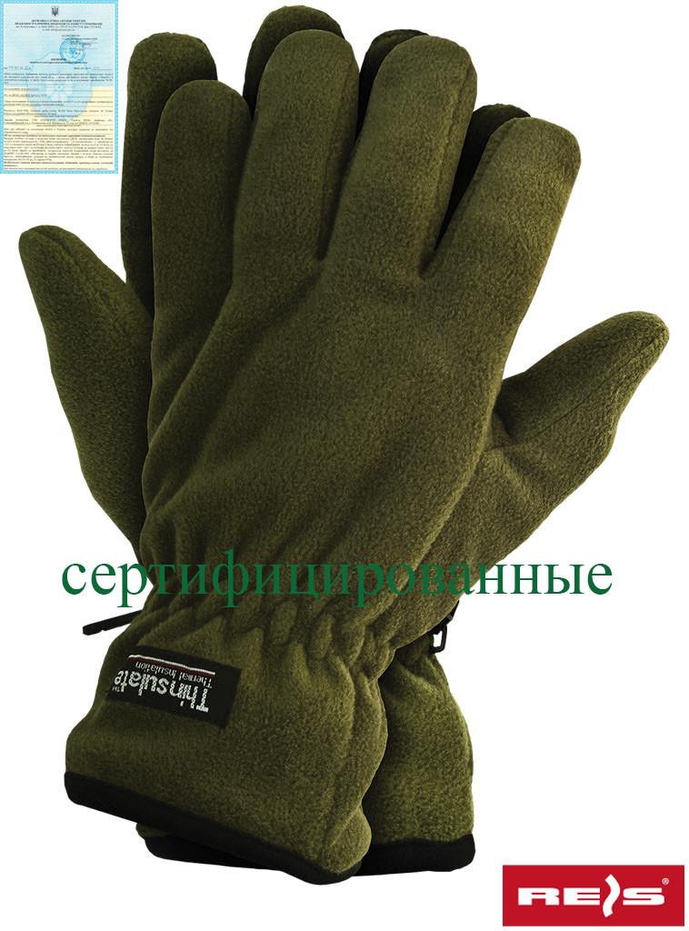 Захисні рукавички виготовлені з полар, утеплені вкладкою Thinsulate RTHINSULPOL O