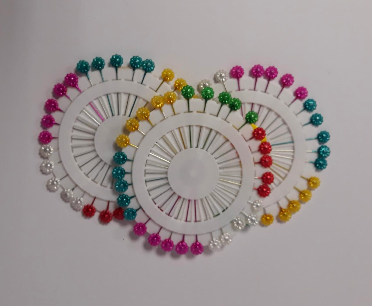 Булавки-цветочки Цветные 5 см 64711 Китай
