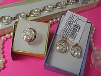 Серебряный набор с жемчугом