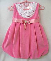Платье для девочки из велюра
