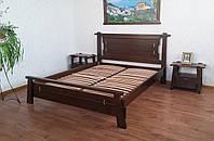 """Спальня из дерева """"Робинзона"""" (кровать + 2 тумбочки). Массив дерева - ольха, береза, дуб."""
