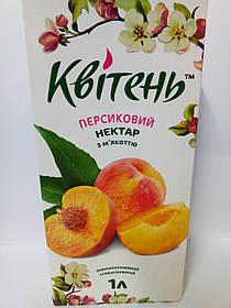 """Нектар персиковый с мякотью 1л """"Квітень"""""""