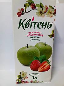 """Нектар яблоко-клубничный с мякотью 1л """"Квітень"""""""