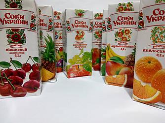 """Нектар апельсиновый 0,2л """"Соки Украины"""""""