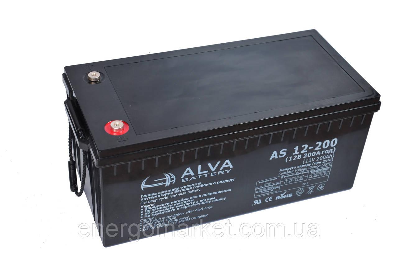 Аккумуляторная батарея Alva AS12-200 GEL