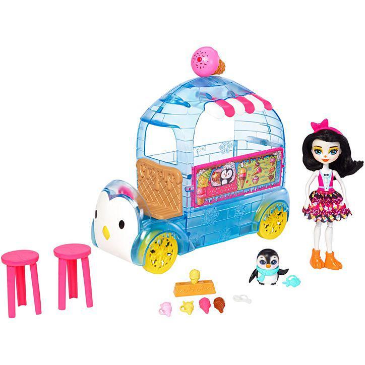 Игровой набор Энчантималс Enchantimals Фургончик с мороженым с пингвином FKY58