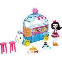 Набор Энчантималс фургон мороженное кафе с куклой и пингвином/Enchantimals Wheel Frozen Treats Preena Penguin