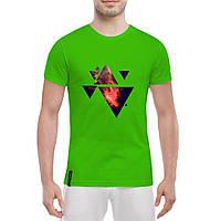 Футболка с печатью принта Треугольники Вселенная, фото 1