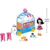 Игровой набор Энчантималс Enchantimals Фургончик с мороженым с пингвином FKY58, фото 10