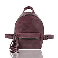 Рюкзак кожаный бордовый, фото 1