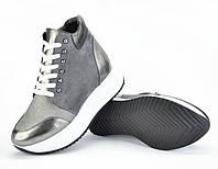 Ботинки комбинированные на шнурках, кроссовки
