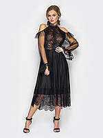Miu Chee Платье миди с открытыми плечами
