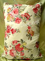 Подушка шариковый селикон 50*70 ткань тик