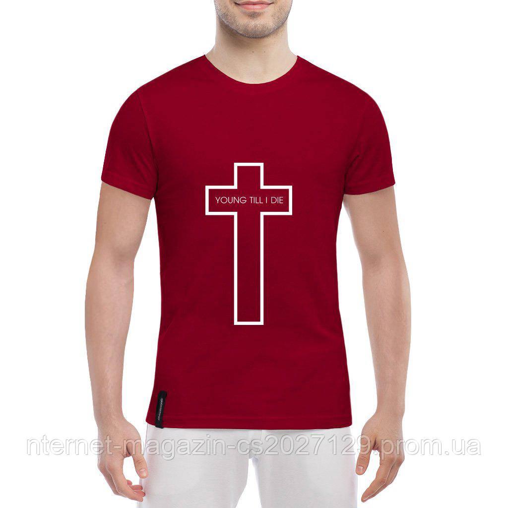 Футболка с печатью принта Крест