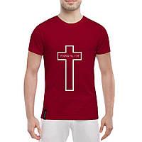 Футболка с печатью принта Крест, фото 1