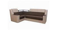 Угловой диван Garnitur.plus Винстон коричнево-бежевый 270 см