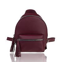 Рюкзак кожаный бордовый матовый, фото 1