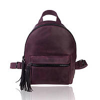 Рюкзак кожаный бургундия орландо, фото 1