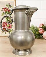 Антикварный оловянный кувшин, олово, Германия, 2 литра, фото 1