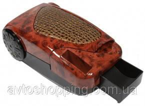 Подлокотник универсальный автомобильный коричневый с черным дерево HJ48001 wood+E8+wood