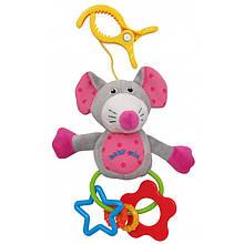 Игрушка плюшевая с клипсой Baby Mix TE-8543-M  Мышка