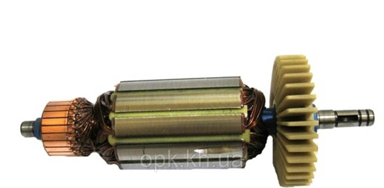 Якорь тст-н болгарки Craft CAG-180/1900E (48*178 мм, хвостовик - шпонка+стопорное кольцо 9 мм)