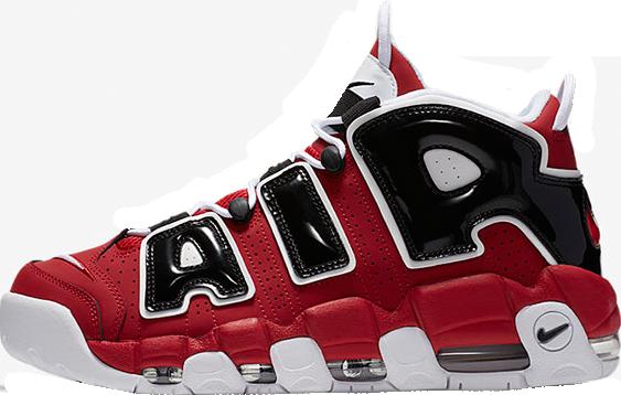Баскетбольные кроссовки Nike Air More Uptempo Black White Red e12cece7fa47e