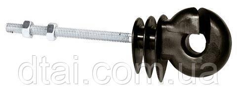 Изолятор для бечевки электропастуха с резьбой ∅6 мм удлиненный длинна 80 мм