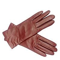 L135Ital Бордо Перчатки женские кожа кашемир зимние
