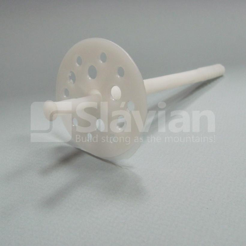 Дюбель крепления теплоизоляции 10х120мм, пластиковый гвоздь (Premium)