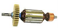Якорь тст-н болгарки Craft CAG-180/1900 Вт, WinTech (44*178 мм, хвостовик - шпонка+стопорное кольцо 9 мм)