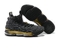 Баскетбольные кроссовки Nike Lebron 15 Grey Gold Реплика
