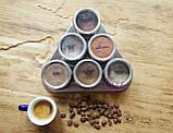 Набор пряностей для кофе в металлических спецовниках на подставке, 6 шт. по 15 грамм, фото 3