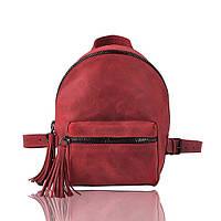 Рюкзак кожаный гранатовый, фото 1