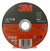 3M 68011 - Отрезной круг для нерж., прямой, Т41, INOX, 125х22,23х1,0 мм
