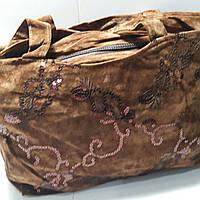 Вместительная коричневая женская сумка 24х36 см, фото 1