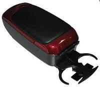 Подлокотник универсальный автомобильный HJ48002 красный