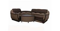 Угловой диван Garnitur.plus Мадрид коричневый 250 см