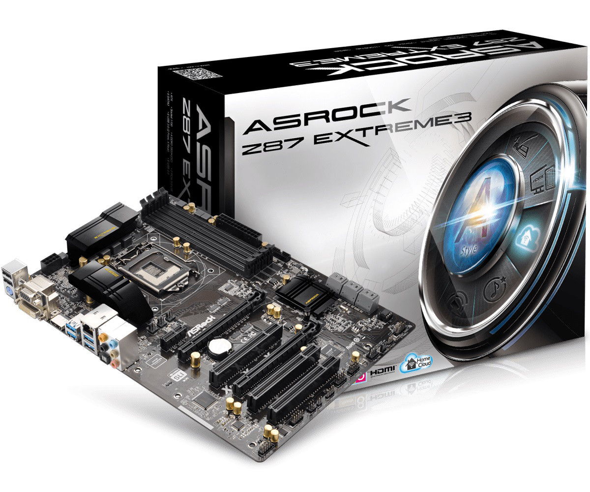 "Материнская плата ASRock Z87 Extreme3 s.1150 DDR3 ""Over-Stock"""