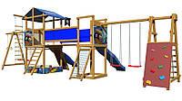 Детская  площадка с домиком и горкой  SportBaby-13