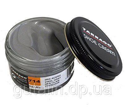 Крем для гладкой кожи Tarrago Shoe Cream 50 мл цвет перламутровый стальной серый (714)
