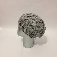 Женская шапка-чулок крупной вязки tez120724