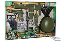 Набор военного 33560 для спецоперации, каска, маска, оружие, звук...