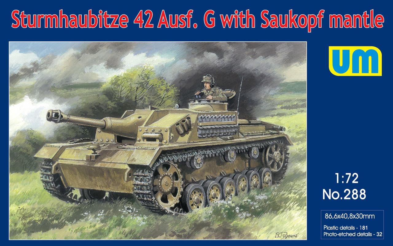 Sturmhaubitze 42 Ausf.G with Saukopf mantle. 1/72 UM 288