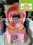 Антиковзка дитяча пластикова накладка (адаптер) на унітаз і сходинка - підставка, фото 8