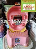 Антискользящая детская пластиковая накладка (адаптер) на унитаз и ступенька - подставка, фото 6